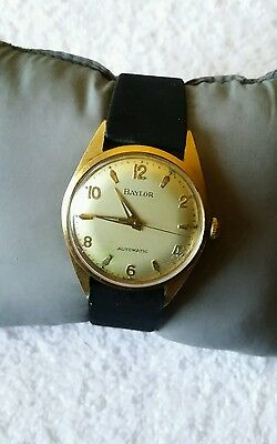 Vintage Baylor Men's Automatic Watch Rare Crystal Need Changing Made In Germany