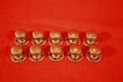 "lot of 10 round Sig Metal 1.25"" Stainless Knobs (pulls), Cabinets, Drawers"