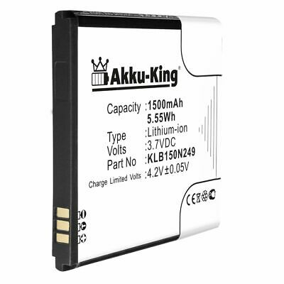 Akku-King Akku für Kazam Trooper 2 4.0 Trooper 2 X4.0 - KLB150N249 Accu Battery