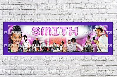 Personalized Willow Smith Name Poster with Border Mat Art Decor Custom Banner