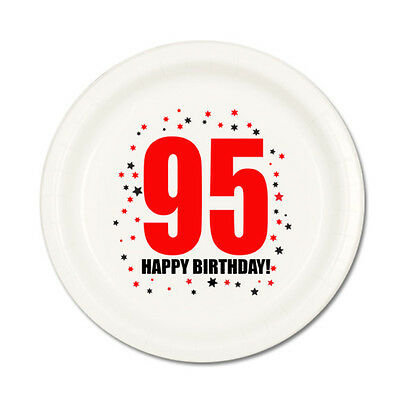 95th BIRTHDAY DESSERT PLATES 8 Pk Small Lunch Plate Birthday Party Supplies T135