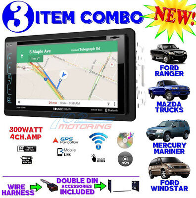 1995-2007 Ford Mercury Bluetooth Cd Navigation Radio Stereo Install Double Din