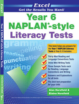 Excel NAPLAN-style Literacy Tests Year 6 NEW Pascal Press 9781741254181