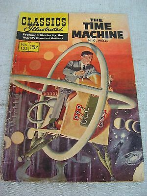 Vtg 1956 Classics Illustrated The Time Machine by H.G. Wells Comic Book (#133)