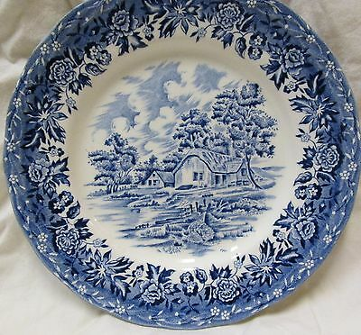 "Country Style Wh Grindley Staffordshire 6.8"" Blue Salad Plate, Xlnt Cond."