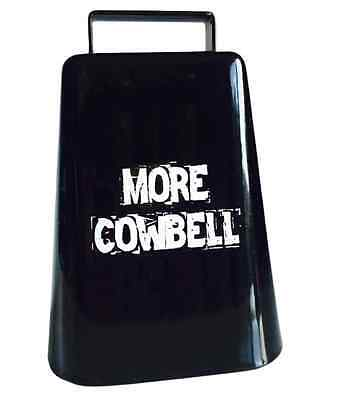 """NEW 5"""" high MORE COWBELL SNL Will Ferrell Cow Bell black with clapper"""