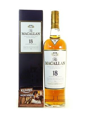 Macallan 18 Jahre Sherry 1996 Speyside Single Malt Scotch Whisky 0,7l, alc. 43%