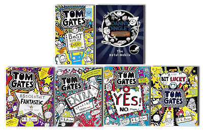 Tom Gates 6 Books Collection Pack Set- Book 5,6,7,8 with WBD and Danny Dingle