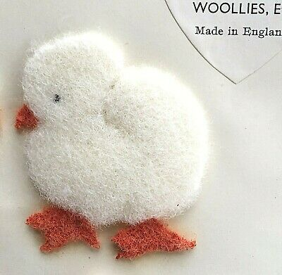 """Vintage Motifs - White """"Baby Chick"""" Wool Motif - Made in England"""