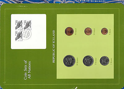Coin Sets of All Nations Iceland  all 1981 but 10 Koronur 1984 UNC