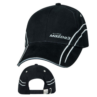 New Mazda 3 Black/White Hat Unisex Cap Gift Accessory