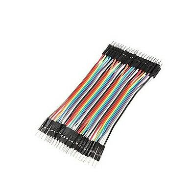 40PCS Dupont wire jumpercables 10cm 2.54MM male to male 1P-1P