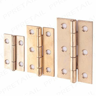 38mm, 50mm & 63mm BRASS CABINET HINGES Small-Large Furniture Cupboard Door Butt