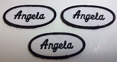 RHONDA EMBROIDERED SEW ON NAME PATCH LOT OF 3 ~ NAME TAG