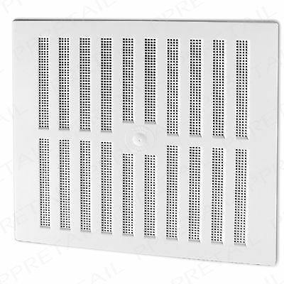 """WHITE ADJUSTABLE HIT & MISS LARGE AIR VENT~11.25"""" x 10.5""""~VENTILATOR COVER Grill"""
