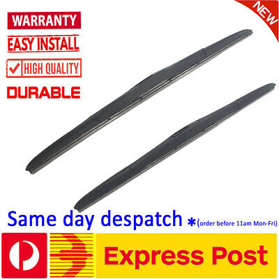 Pair Frameless Windscreen Wiper Blades AERO FLAT For MAZDA3 BM 2014 - 2015