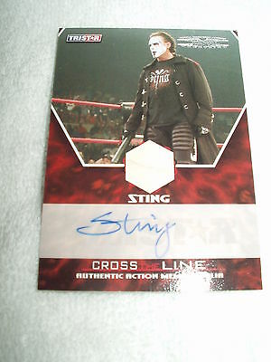 WWE Wrestling Autograph & Relic Costume Material Card Sting M-SA 96/99