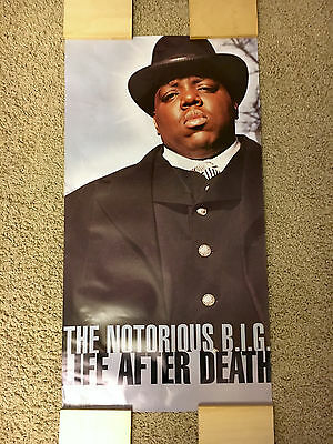 "Notorious B.i.g. ""life After Death"" Promo Poster! 1997 (Biggie, Bad Boy Records)"