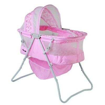 Dream On Me Karley Bassinet In Pink Transitional Baby Bassinets