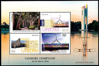 Australia 2016 Canberra Stamp Show 2016 minisheet stamps MNH