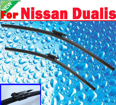 Pair Frameless Windscreen Wiper Blade For NISSAN DUALIS 2007  - 2016