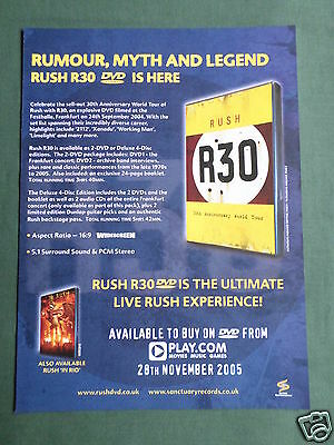 Rush - Magazine Clipping / Cutting- 1 Page Advert