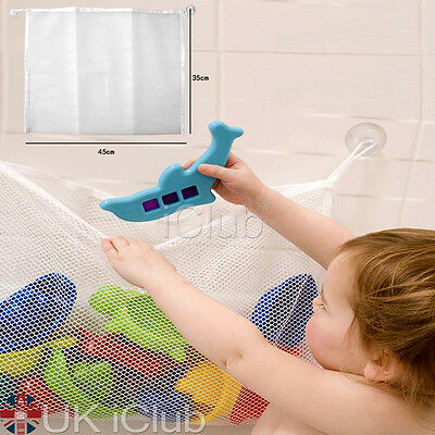 UK Baby Bath Toy Tidy Storage Net Suction Cup Bag Mesh Shower Bathroom Organiser