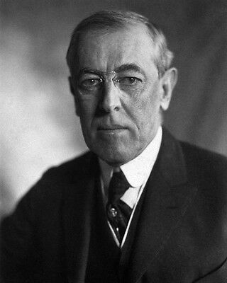 28th US President WOODROW WILSON Glossy 8x10 Photo Political Portrait Poster