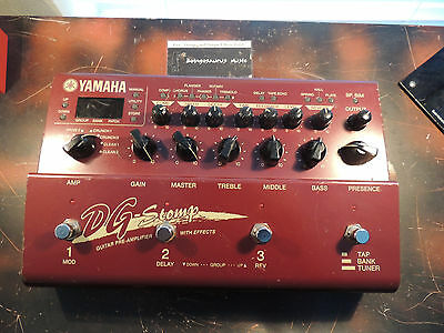 Yamaha Dg Stomp Multi Effects Processor Pedal Amp Modeller  Works Please Read