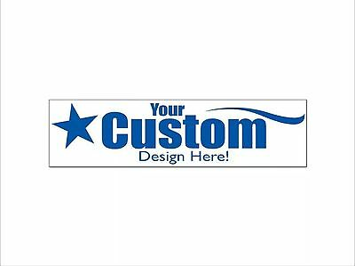 (3) Design Your Own Custom Full Color Bumper Sticker Free Shipping