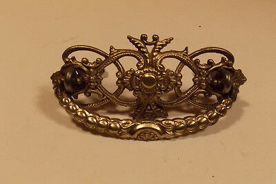 Victorian Antique Vintage brass pull