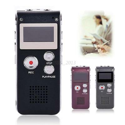8GB Digital Voice Recorder 8G Dictaphone MP3 Player USB with Built-in Speaker