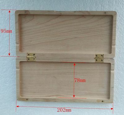 Unfinished maple Wooden oboe reeds case +parts