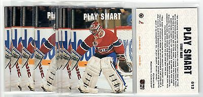 1X PATRICK ROY 1991 92 Pro Set ENGLISH #613 NMMT Lots Avail Canadiens PLAY SMART