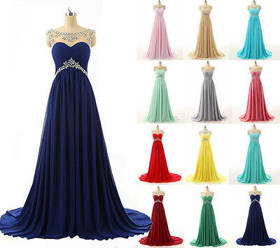 Long Chiffon Beautiful Formal Evening Ball Party Prom Gown Bridesmaid Dresses