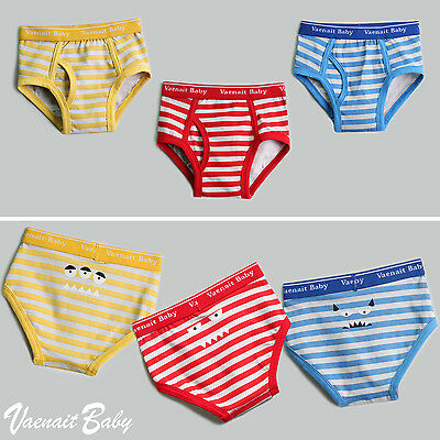 "Vaenait Baby Kids Brief Short Underwear Boy Pantie Set ""Brief Cute Buglar"" 2T-7T"