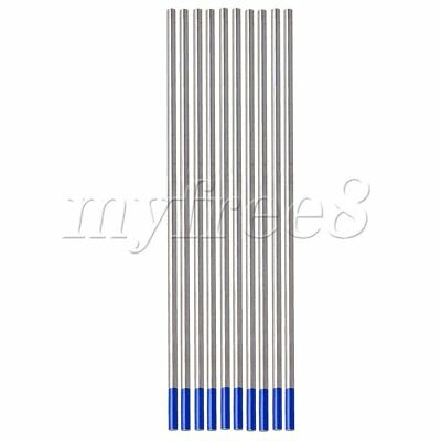 10x Tig Tungsten 3.2 x 150mm 2% Lanthanated Tungsten Welding Electrode Blue Tip