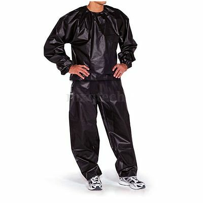 Heavy Duty Sweat Suit Sauna Gym Exercise Fitness Weight Loss Anti-Rip Black