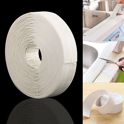 5M Roll 22MM Wide White Sealing Strip. Bath, Shower, Sink White Sealant Tape
