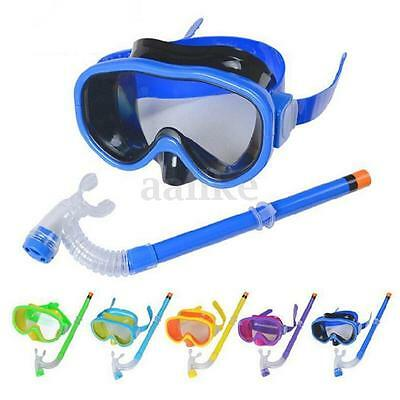 Swimming Diving Mask Snorkel Protective Goggles Set Tempered Glasses For Kid