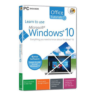 Learn to use Microsoft Windows 10 PC-DVD, SEALED & BRAND NEW
