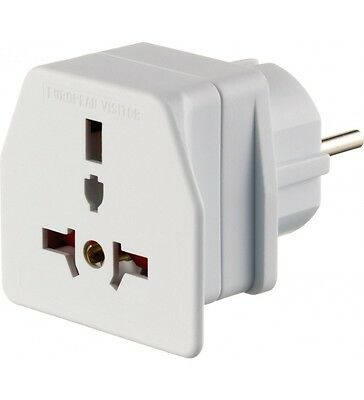 UK USA Australia Middle and Far East to EEC EU Euro Visitor Travel Adaptor Plug