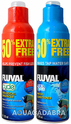 FLUVAL AQUAPLUS & CYCLE 375ml (250ml 50% EXTRA FREE) BIOLOGICAL WATER CONDITONER