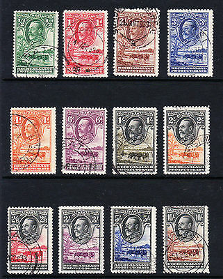 Bechuanaland 1932 Complete Set Sg 99-110 Fine Used.