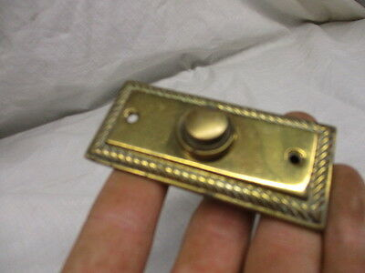 Vintage Brass Door Bell Rope Trim Edge Old Salvaged Retro