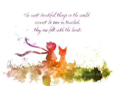 ART PRINT The Little Prince Quote 2nd illustration, Le Petit Prince, Wall Art