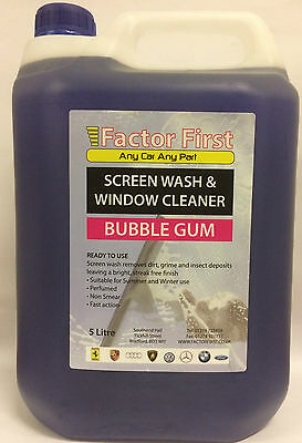 SCREENWASH bubblegum CONCENTRATE 5L Chemicals Cleaning - BG1021 ON SALE