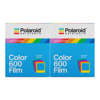 2 x Polaroid Originals 4672 Instant Color Film with Color Frame for 600 Cameras