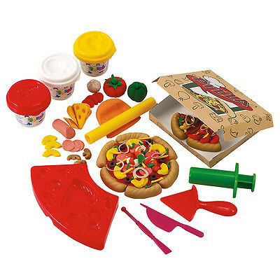 Playgo PLAY DOUGH PIZZA SET (3 Colors of Play Dough Included) ~NEW~