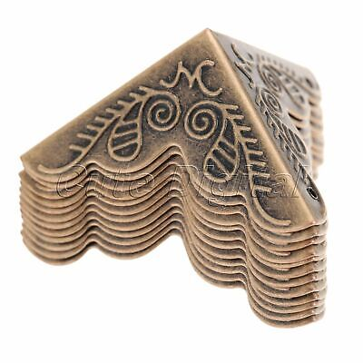 12X Antique Decorative Jewelry Gift Wine Box Wooden Case Corner Protector Guard